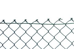 New wire security fence isolated Stock Photo