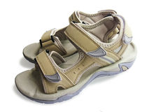 New woman`s sport sandals Royalty Free Stock Image