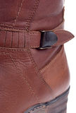 New woman winter boots detail Royalty Free Stock Images
