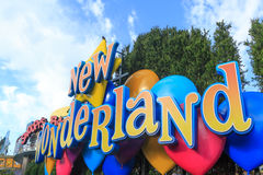 New wonderland sign in Universal Studios,Osaka Japan. Stock Images