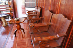 New Wood Chair Thailand Set Stock Images