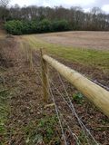 New wood field fencing royalty free stock photo