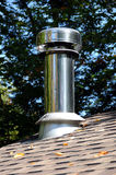 New wood stove chimney Royalty Free Stock Photography