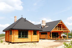 New wooden buildings. Royalty Free Stock Images