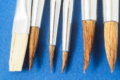 New Wooden Different Paintbrush Texture Stock Photos