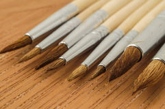 New Wooden Different Paintbrush Texture Royalty Free Stock Image