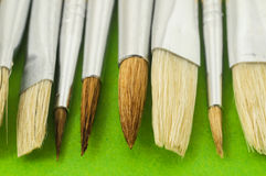 New Wooden Different Paintbrush Texture Stock Image