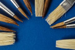 New Wooden Different Paintbrush Texture Royalty Free Stock Photography