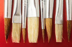 New Wooden Different Paintbrush Texture Stock Images