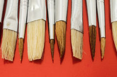 New Wooden Different Paintbrush Texture Stock Photography