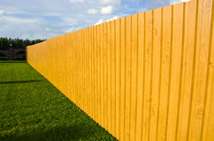 New wooden fence in farm Royalty Free Stock Photography