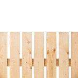 New wooden fence fragment isolated on white Royalty Free Stock Photos