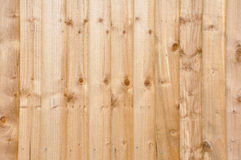 New Wooden Fence Panels Background. New Garden Fence Pine Panelling Background Stock Photos