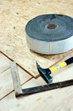 New wooden floor stock image