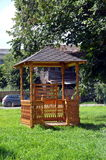 New wooden gazebo for sale Stock Photography