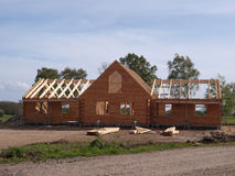 New Wooden Home Construction Royalty Free Stock Images