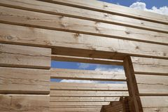 New wooden house Stock Photo