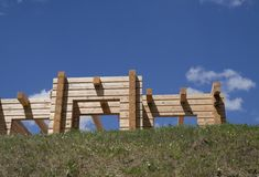 New wooden house Stock Photos