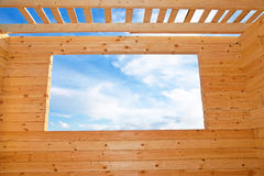 New wooden house. Royalty Free Stock Photography
