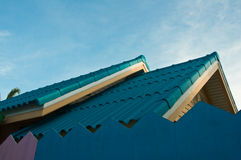 New wooden house with a blue sky Royalty Free Stock Image
