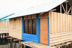 New house above sea in Manokwari Stock Images