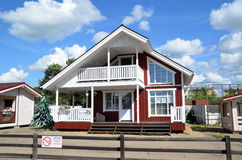 New wooden house for sale Royalty Free Stock Image