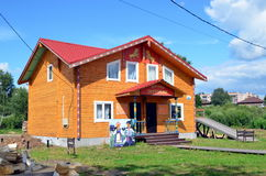 New wooden house for sale Royalty Free Stock Photography
