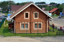New wooden house for sale Royalty Free Stock Photo