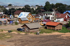 New wooden houses for sale Royalty Free Stock Photos
