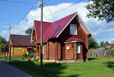 New wooden houses for sale Royalty Free Stock Photography