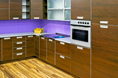 New wooden kitchen Royalty Free Stock Photo