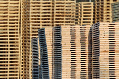 New wooden pallets on factory  backyard Royalty Free Stock Images