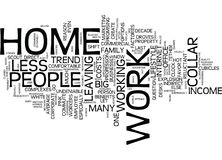The New Work At Home Trend Text Background Word Cloud Concept Royalty Free Stock Images