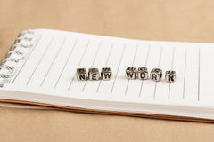 The new work - the word of the individual letters Royalty Free Stock Photo