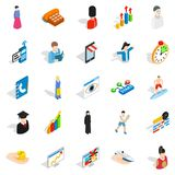 New worker icons set, isometric style Royalty Free Stock Images