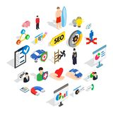 New workforce icons set, isometric style. New workforce icons set. Isometric set of 25 new workforce vector icons for web isolated on white background Royalty Free Stock Photography