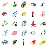 New workforce icons set, isometric style Stock Photography