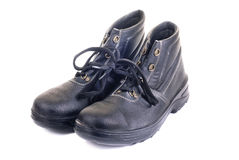 New  working man's boots black Royalty Free Stock Photography