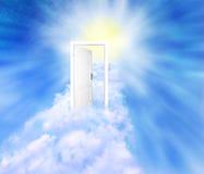 New world. Door to new world background Stock Photos