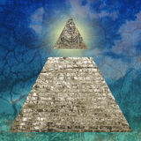 New world order. Pyramid illustration including an all seeing eye vector illustration