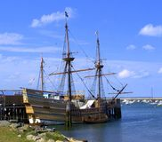 The New World - Replica of the Mayflower Royalty Free Stock Photo