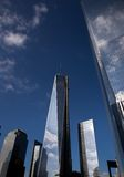 The new World Trade Center cloud reflection Stock Photography