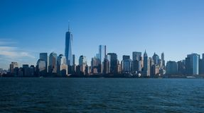 The new World Trade Center in lower Manhattan. The new World Trade Center and the surrounding buildings as the WTC changes the skyline of New York City once Stock Photo