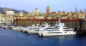New Yachts in Genoa Stock Photo