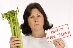 New Year's Dieting Excitement Stock Images