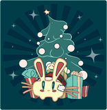 New Year's rabbit Stock Image
