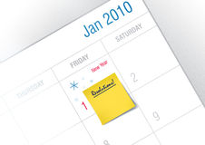 New Year's resolution. Post it Ready for New Year's Resolution royalty free illustration