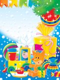 New Year 03. New Year. Christmas. Toys and gifts for children Stock Images