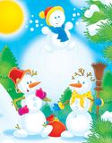 New Year 07. New Year. Christmas. Snowballs Royalty Free Stock Photography