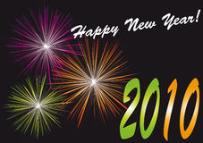 New year. 's background with fireworks Stock Illustration